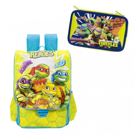 Cante Shkolle Est. Turtles Half Shell 17 + Set Kulete Me Mjete 3-Z Turtles-17