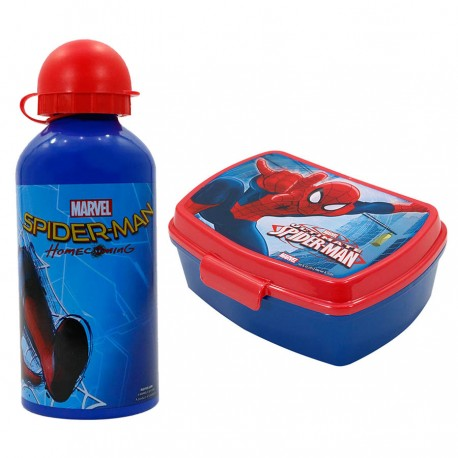 Lunch Box dhe Shishe Uji Spiderman