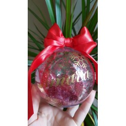 Ornament peme Glob Transparent i Personalizuar