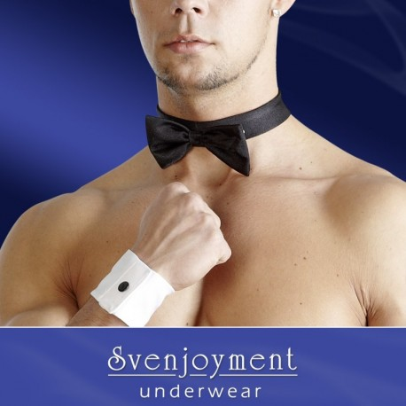 Papion Men's Bow Tie and Cuffs