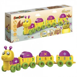 "BanBao Set Ndertimi ""Caterpillar"" Numrat"