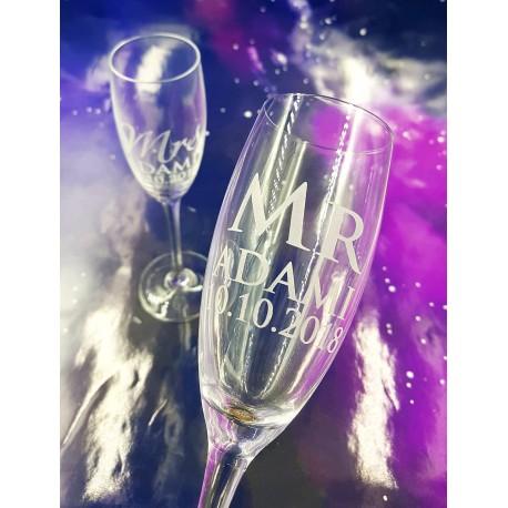 Gote shampanje Delux e Personalizuar