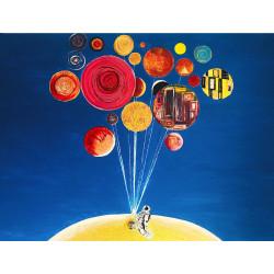 Pikture 90x60cm My universe plays Art