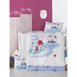 Set carcafe per krevat bebi Nautic