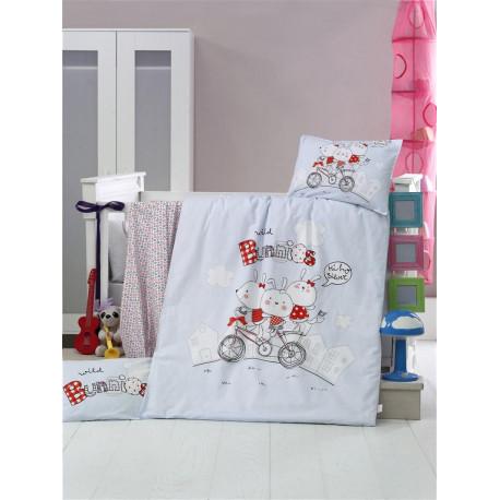 Set carcafe per krevat bebi Bunnies