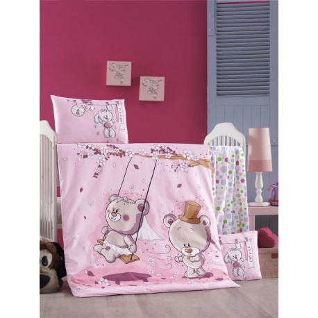 Set carcafe per krevat bebi Pink Dream