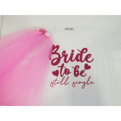 "Set "" Bride to Be"" me T-Shirt dhe Vello"