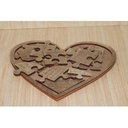 Puzzle Druri ne Forme Zemre e Personalizuar