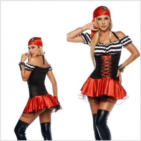 Halloween Kostum Pirate per Femra
