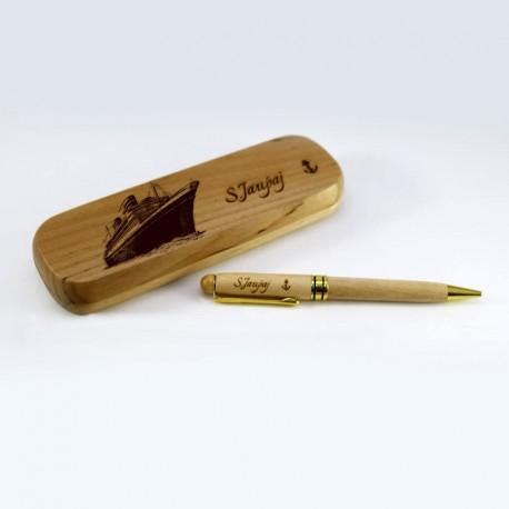 Stilolaps ne Kuti prej Druri i Personalizuar W001